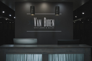 van buren gentlemen's salon reception area