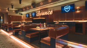 interior of Bounce sports bar chicago