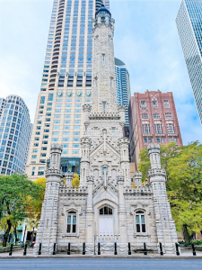 Old Chicago Water Tower is a beautiful building and a must-see in Chicago's Gold Coast.